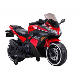 Big motor red sports bike