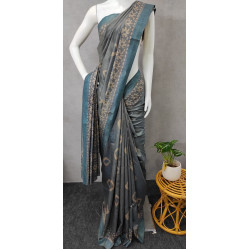 Pashmina Silk Pastel Blue Saree