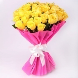 30 Yellow roses bunch